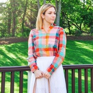 J. Crew Multicolor Plaid Shirt